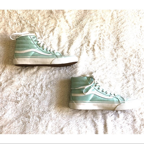 6d2aa9ed6b Vans Shoes - High top Vans Sk8Hi Slim Mint Teal Shoes size 7.5